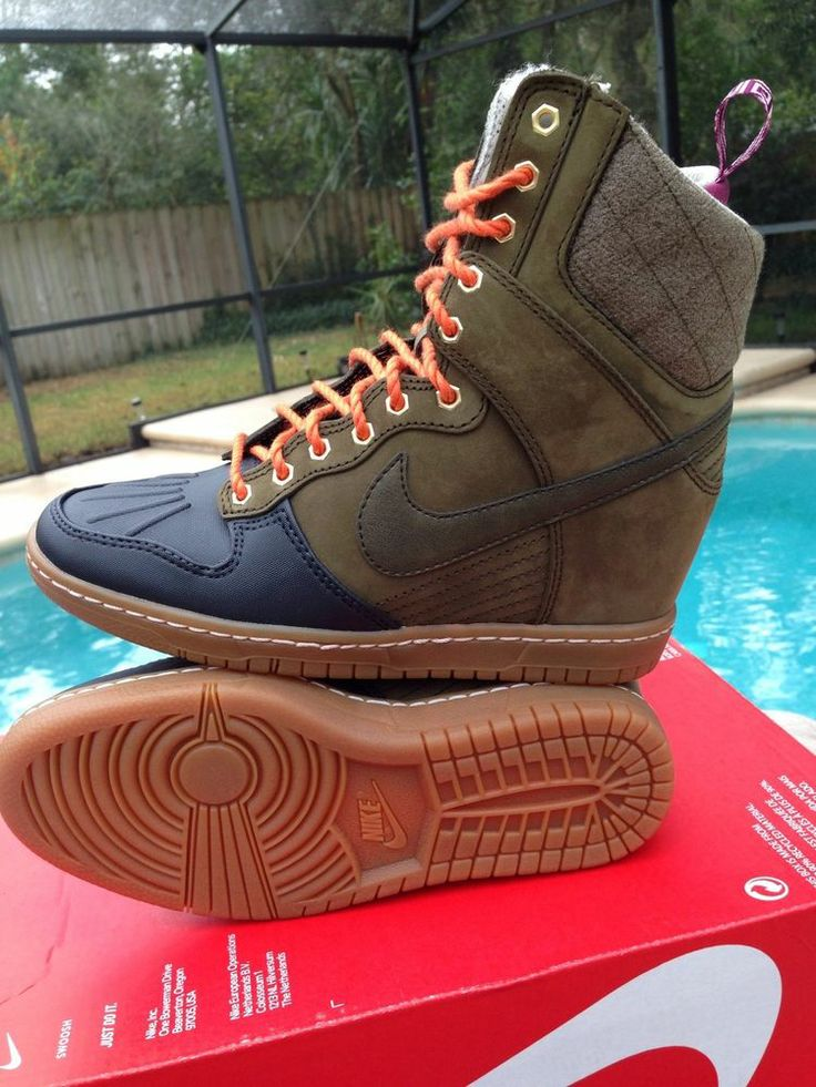 nike womens dunk sky hi wedge sneaker boot 616715