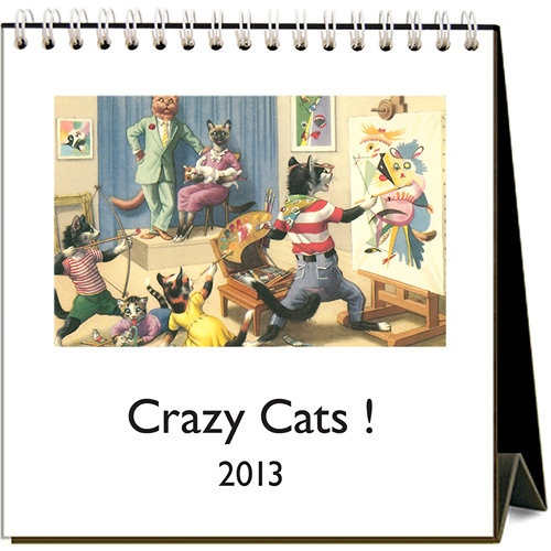 Crazy Cats Easel Calendar: The cat lovers in your life will love this ...