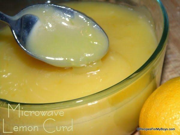 Minute Microwave Lemon Curd RecipesForMyBoys.com