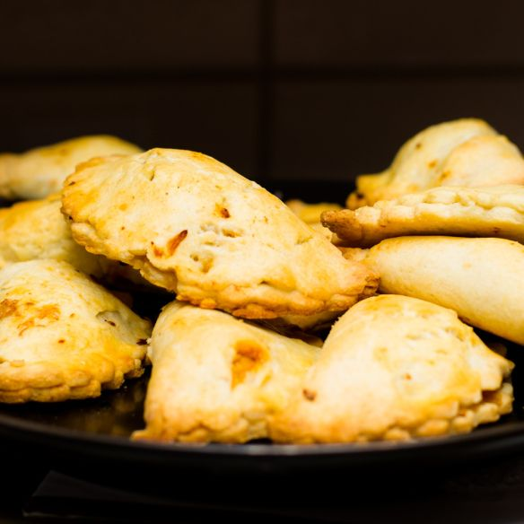Chicken Empanada With Chorizo And Olives Recipe — Dishmaps