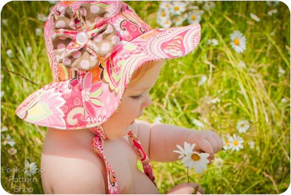 Floppy Flower Sun Hat Pattern: Newborn- Child