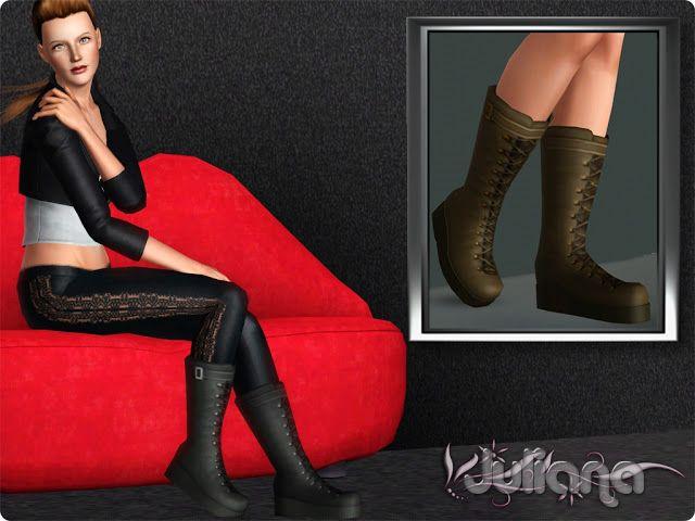 Juliana Sims: Black Betty Boots | Sims 3 Stuff | Pinterest