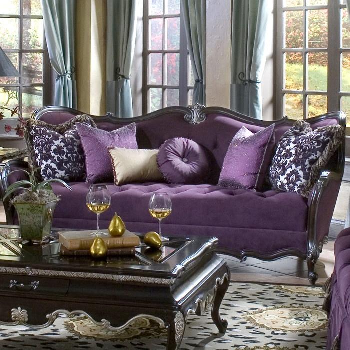 purple couch :)  purple decor inspiration  Pinterest