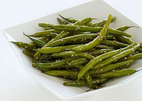 Seared Sesame Green Beans - Bon Appétit #Paleo sub tamari or coconut ...
