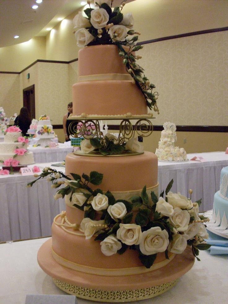 Marrilet cakes wedding cake elegant outdoor wedding for Garden wedding cake designs