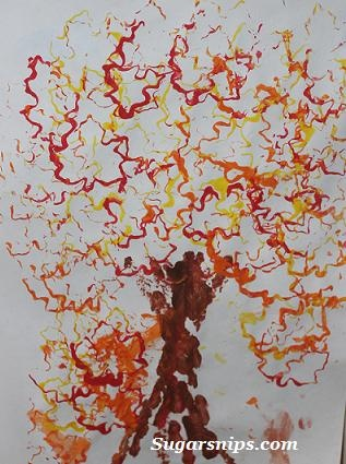 Cookie Cutter Fall Tree Craft via Sugarsnips.com ---It's just a google image.