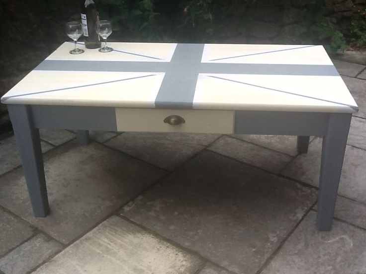 Union Jack Coffee Table X How To Paint Pinterest