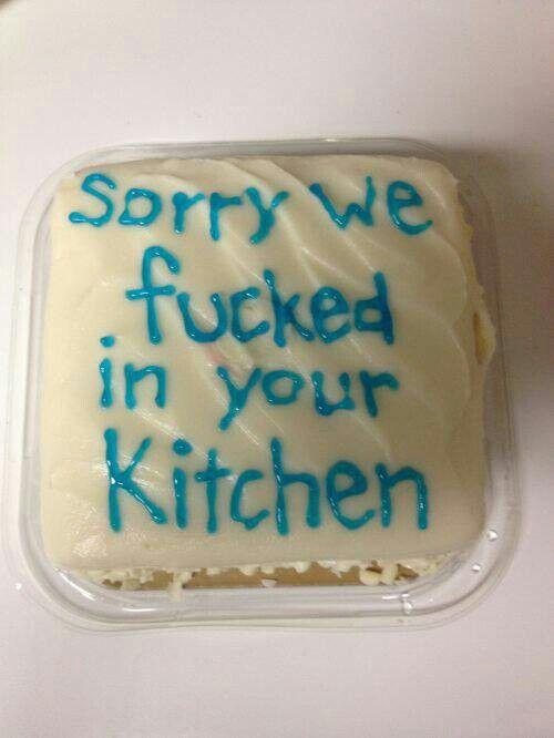 Apology cake