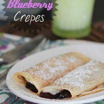 Creamy Lemon Blueberry Crepes Recipe - ZipList