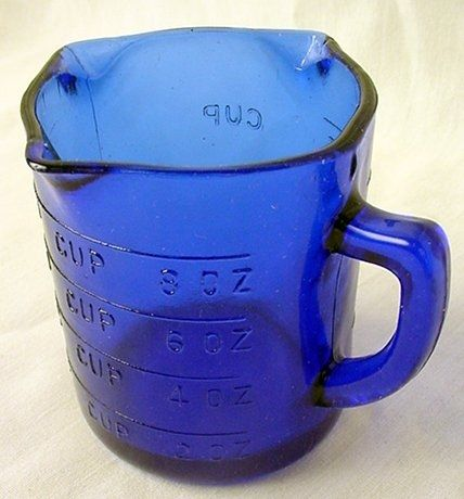 cobalt blue measuring cup