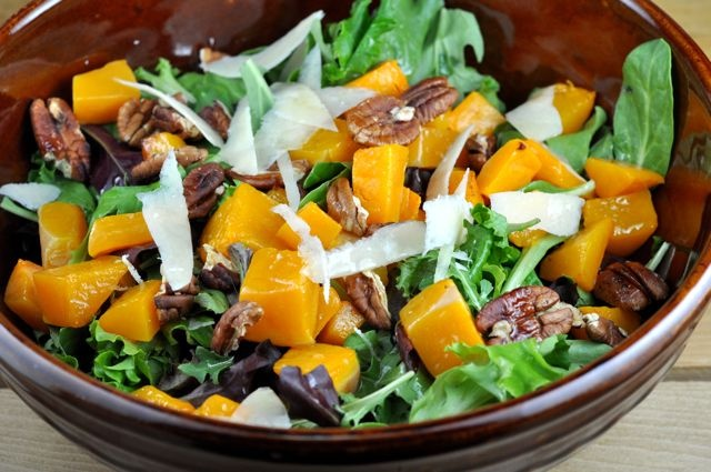 ... Butternut Squash Salad With Toasted Pecans, Pecorino & Truffle