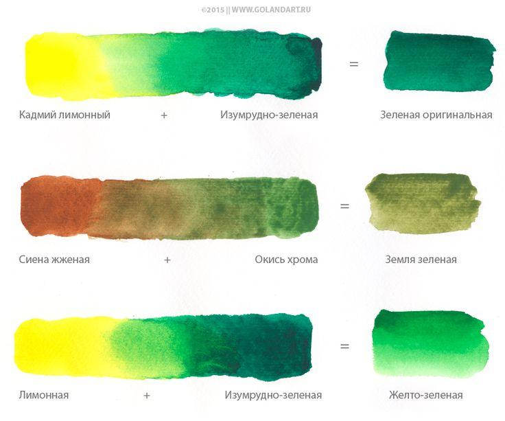 Как сделать оттенки зеленого 650