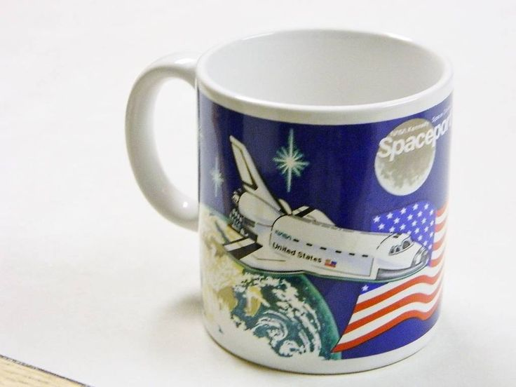 Vintage NASA Kennedy Space Center Space Port USA Coffee ...