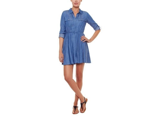 {simple + chic chambray shirtdress} love this!