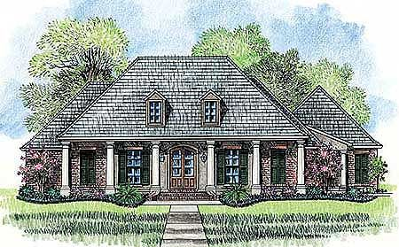 3 Bed French Acadian House Plan