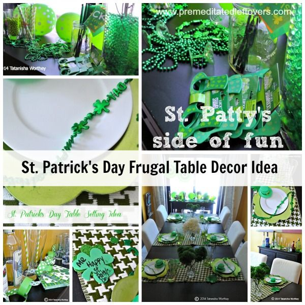 Frugal st patrick s day table decor ideas