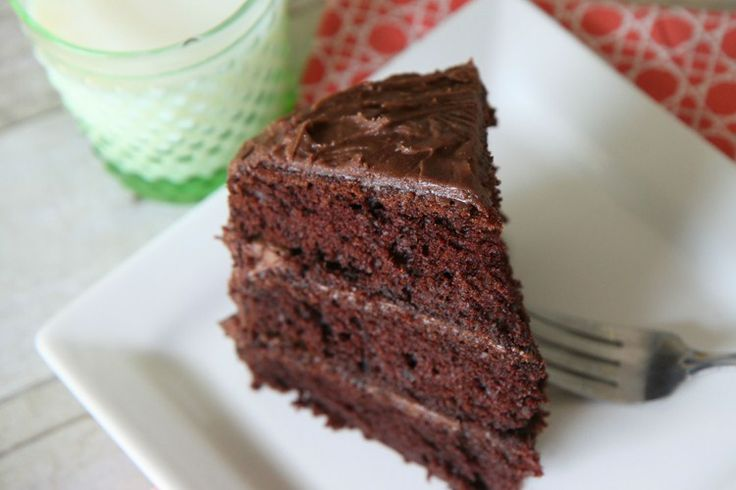Chocolate Almond Cake With Chocolate Cream Cheese Frosting - From Cake ...