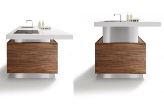 Die «k7»-Kochinsel ist Arbeitsplatte, Tisch und Bar in einem und per ...