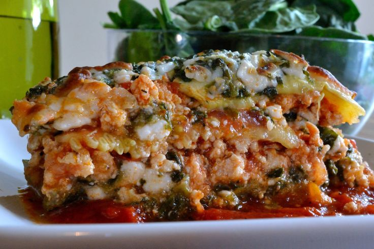 NoodleLESS Turkey Lasagna | Recipes to try | Pinterest