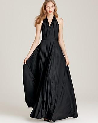 Halston Heritage Halter Dress - Pleated