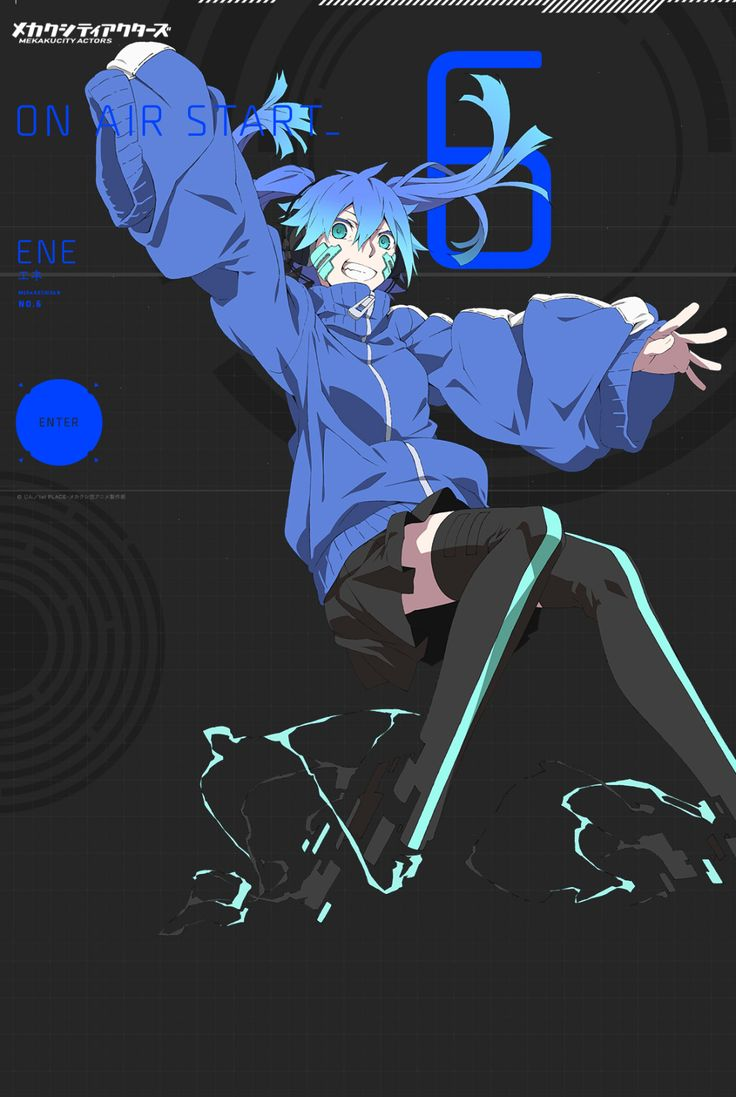 ene mekakucity actors anime manga comic books