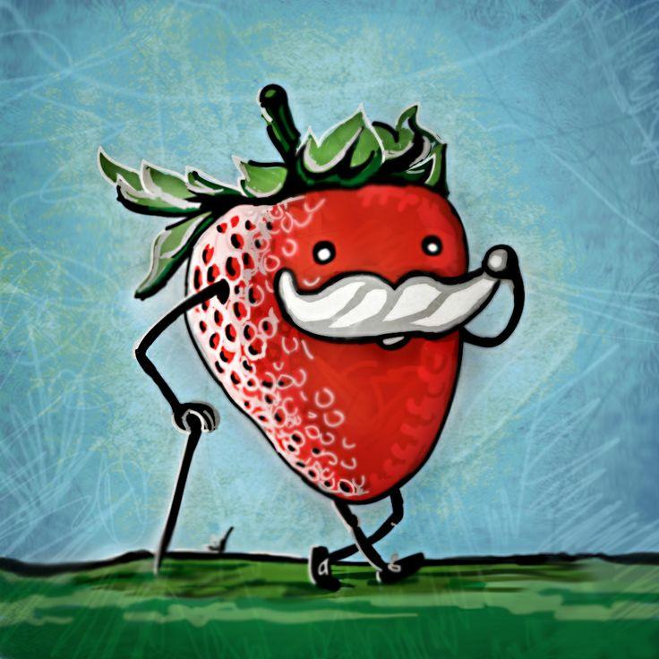 From Designer Miss_alex  #strawberry #Chantilly #Illustration #fun