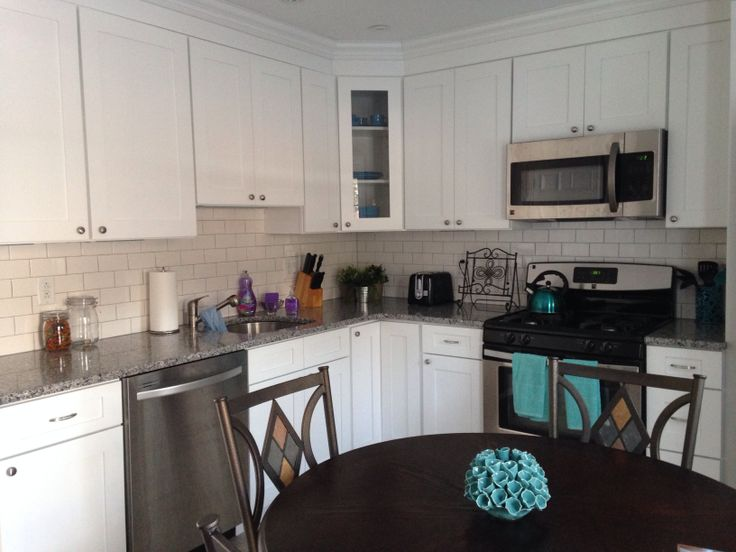 White Grey Kitchen With Teal Accents Kitchen Pinterest