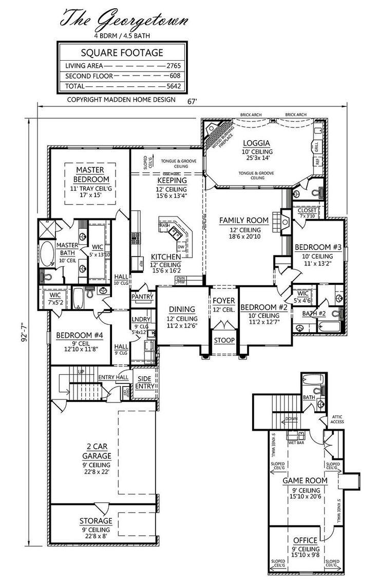 Madden home design the georgetown floor plans pinterest for Madden home designs