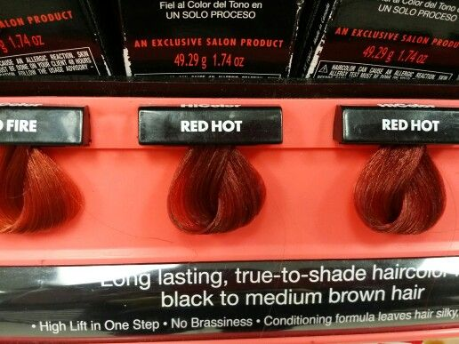 Loreal Hicolor Red Hot With 30 Developer Dark Brown Hairs ...
