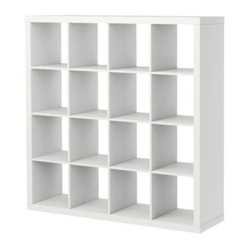 Ikea expedit white 4x4 be t price shelving display bookcase shelf r - Ikea shelf room divider ...