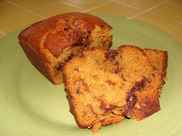 Pumpkin Nutella bread...LOVE   Things I want to bake NOW!   Pinterest