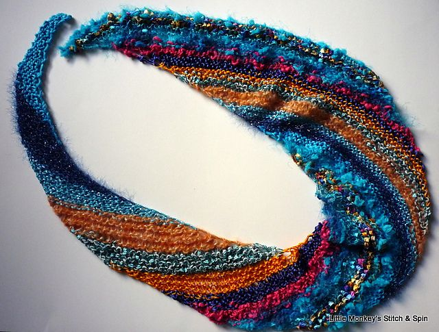 Free Knitting Patterns Childrens Hats : Nautilus Spiral Scarf pattern by Dena Stelly