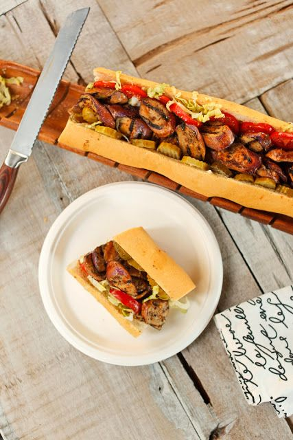 The Chubby Vegetarian: Grilled Andouille Eggplant Po Boy