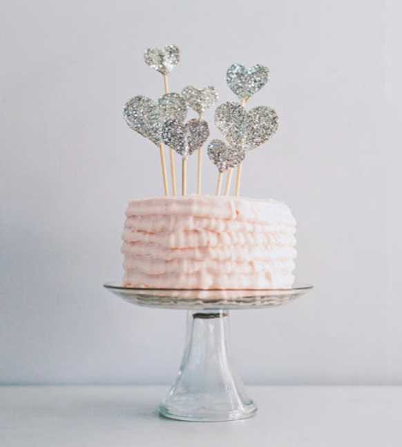 Glitter Cake Toppers | Bride Ideas