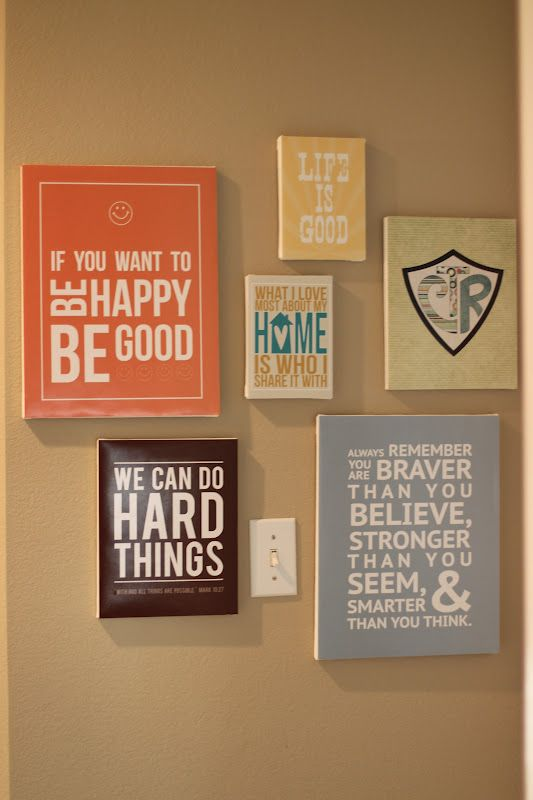 Canvas wall quotes