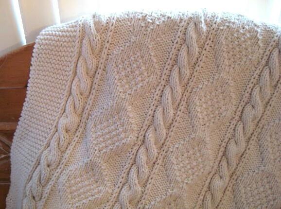 aran knit afghan knit Pinterest