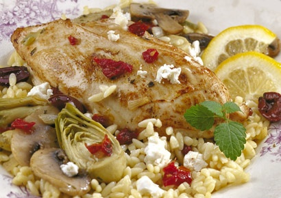 Greek Chicken & Feta Orzo | Recipes - Entrees | Pinterest