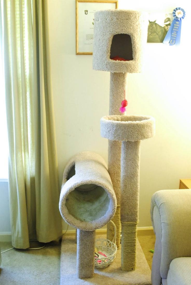 Diy cat tree cat stuff pinterest for Diy kitty