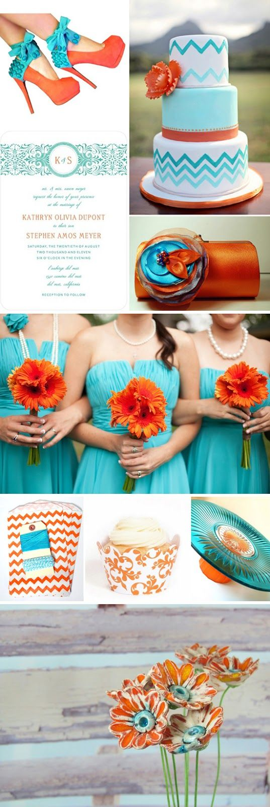 {Inspiration Boards} Turquoise & Orange ~ Savvy Deets Bridal - A Wedding Blog