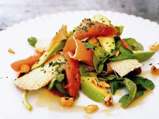 Pink Grapefruit, Avocado and Watercress Salad Salad Recipes