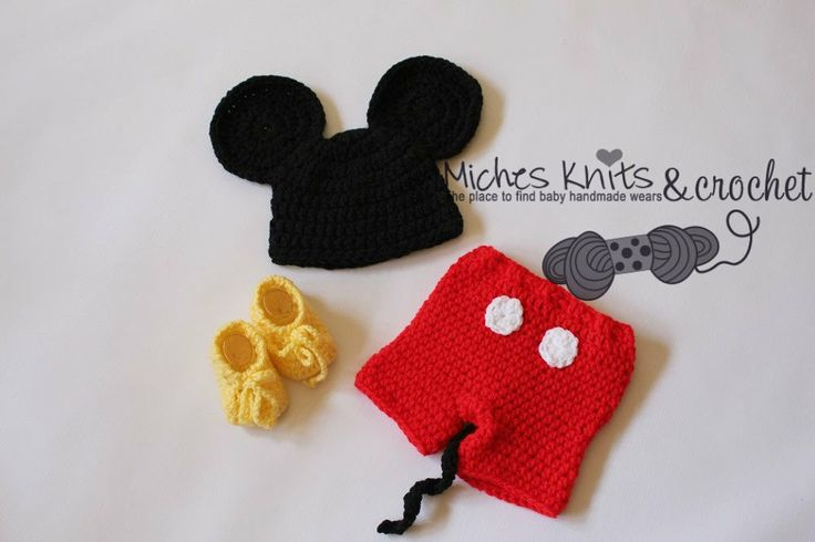 Free Crochet Patterns For Baby Mickey Mouse : Mickey Mouse Crochet Baby Pattern Outfits For Free Joy ...