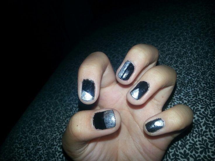 Cute nail design using tape | Gonna make | Pinterest