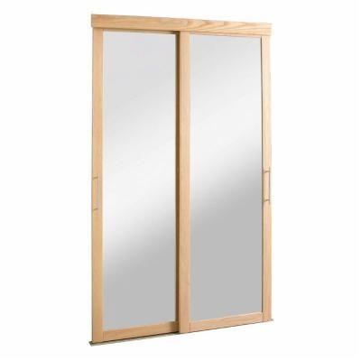 48 in x 80 1 2 in sliding mirror zen oak frame