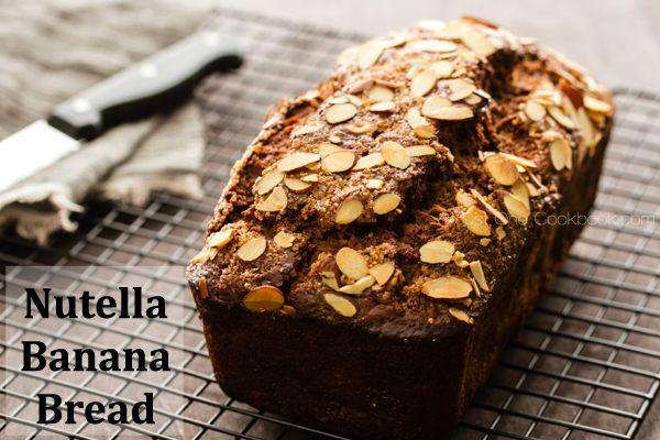 homemade Nutella Banana Bread, easy recipe for breakfast or quick ...
