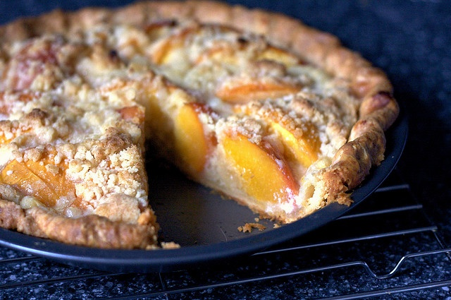 Peach and creme fraiche pie by Smittenkitchen. Mix it all together and ...