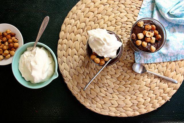 chocolate hazelnut pudding | Bon Appetit | Pinterest