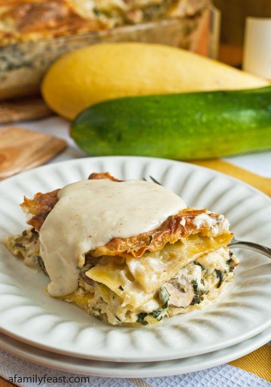 White Vegetable Lasagna - Chock-full of summer veggies in a creamy ...