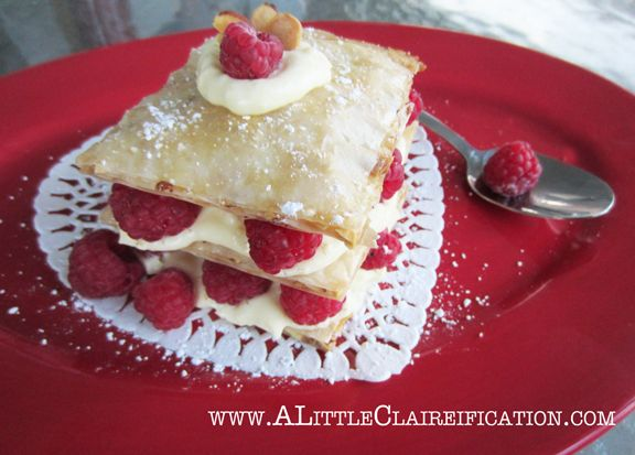 Honey Almond Tart with Raspberries & Custard at ALittleClaireification ...