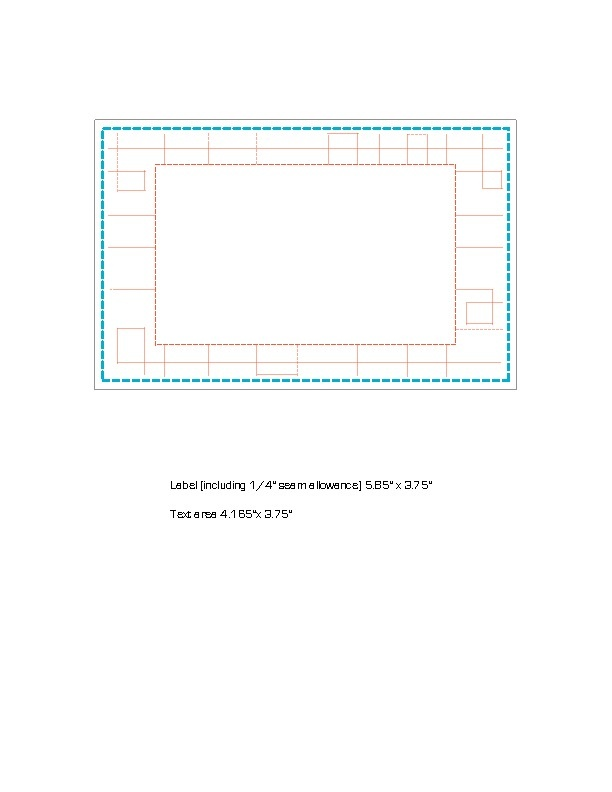 Quilt Label Templates : Free Quilt Label template Quilt labels Pinterest