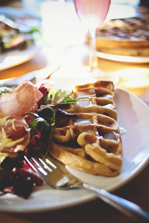 brown sugar bacon waffles.... whaaaat | simply scrumptious | Pinterest